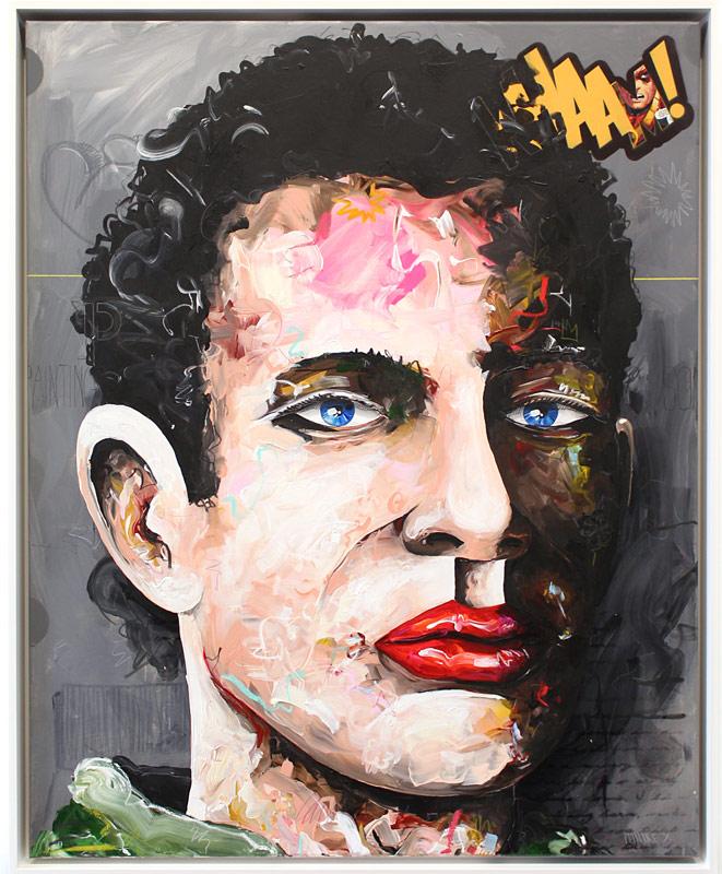 WHAAM! / 100x80 / / acrylic on canvas / Peintre X