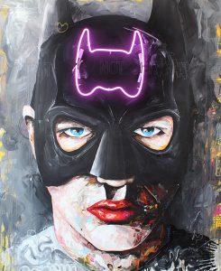Batman // 160 x 130 / acrylic, neonsystem on canvas / Peintre X