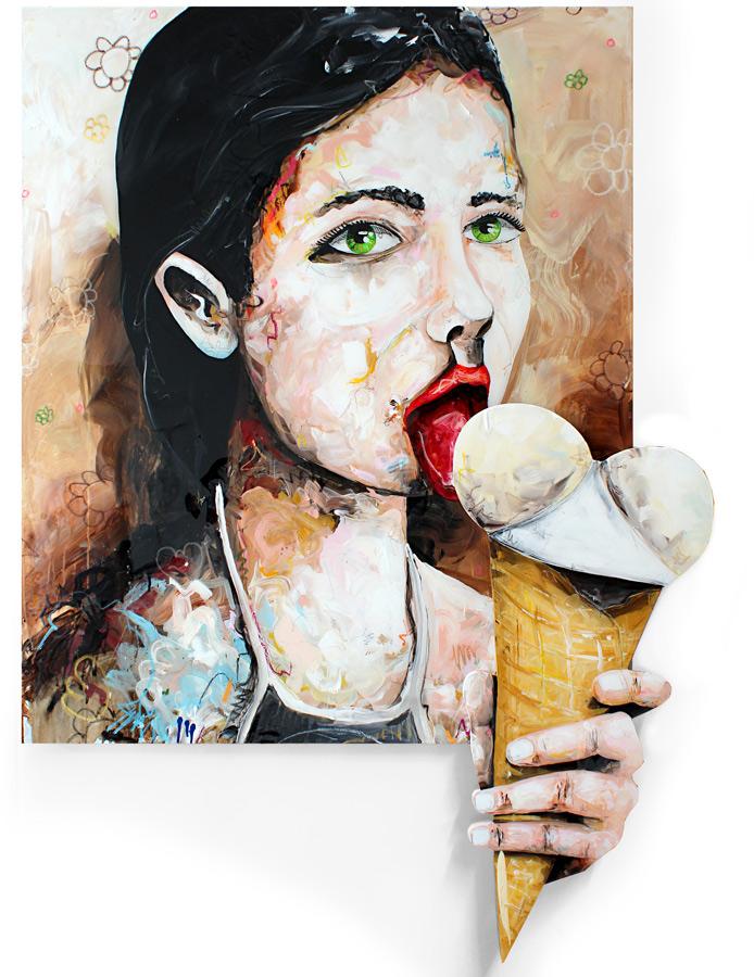 EIS// 120 x 100 / acrylic on canvas on wood