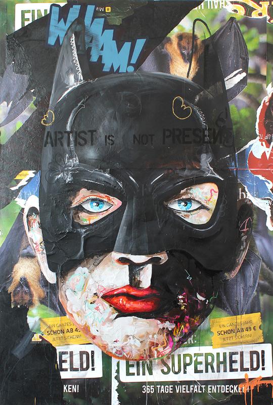 SuperheldBatman // 200 x 135 / acrylic on paper on canvas / Peintre X