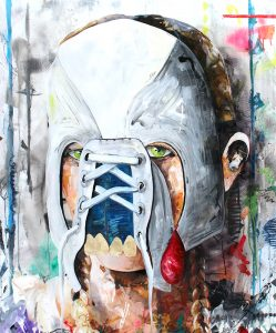 Evidenz X // 130x110 // acrylic on canvas / highgloss