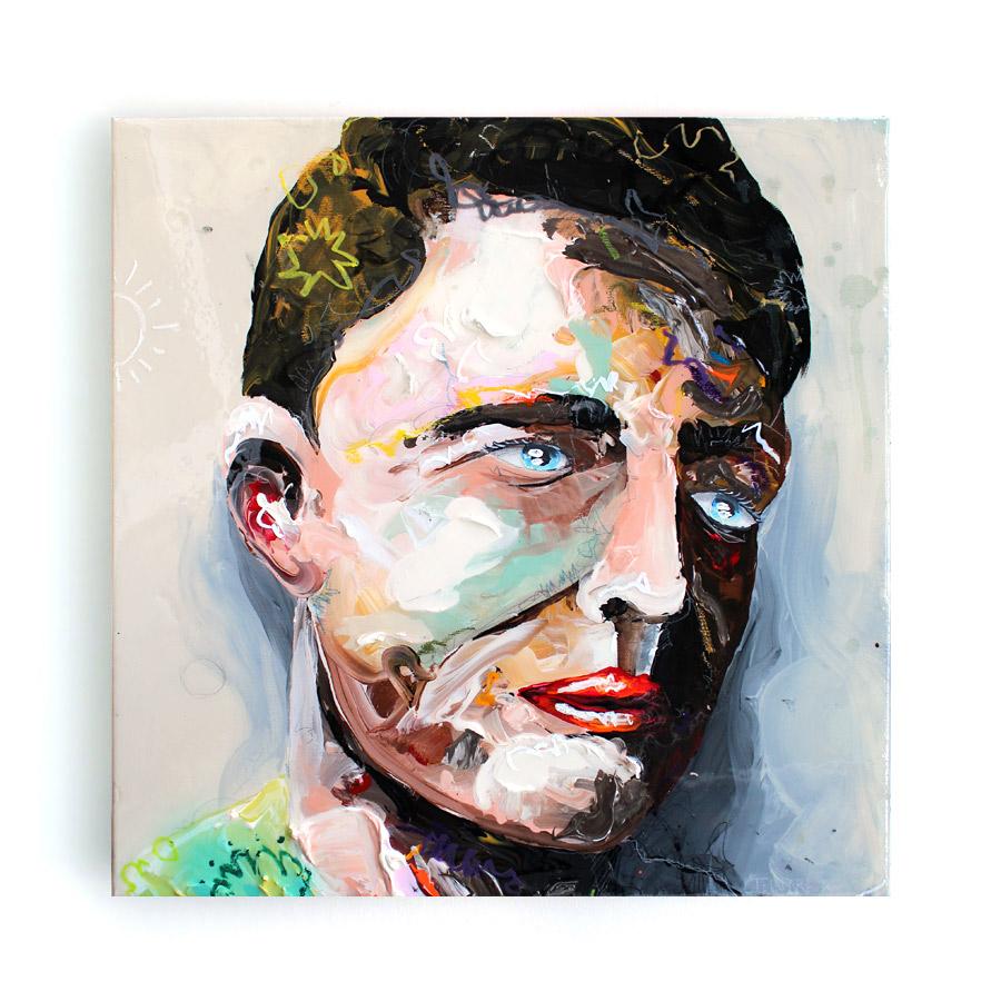"""""""6"""" // 50 x 50 // acrylic on canvas"""