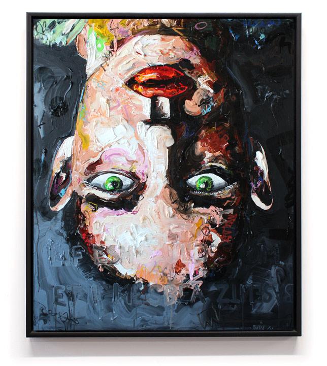 """""""Life should sometimes be a Baselitz"""" // Acryl, Ölpastel auf Leinwand // 120 x 100"""
