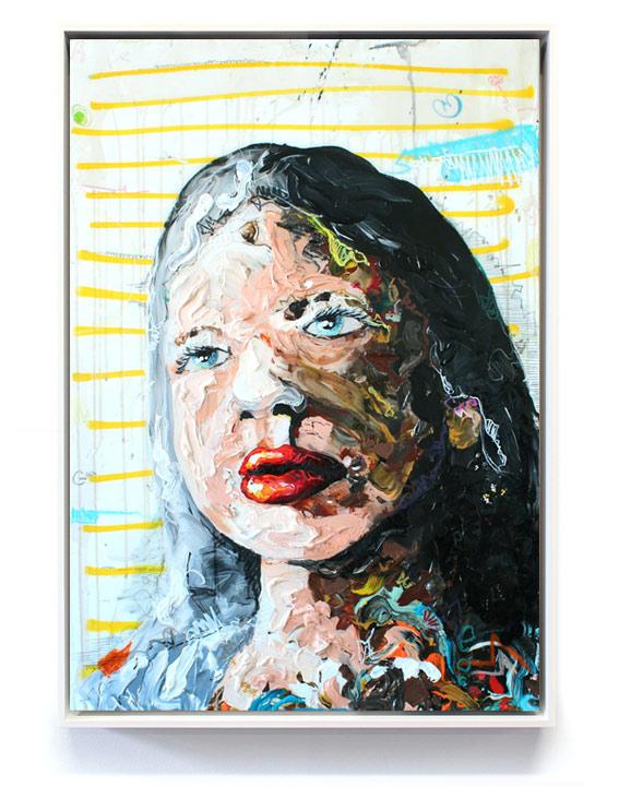 """""""Girl"""" // 100 x 80 // acrylic on canvas"""