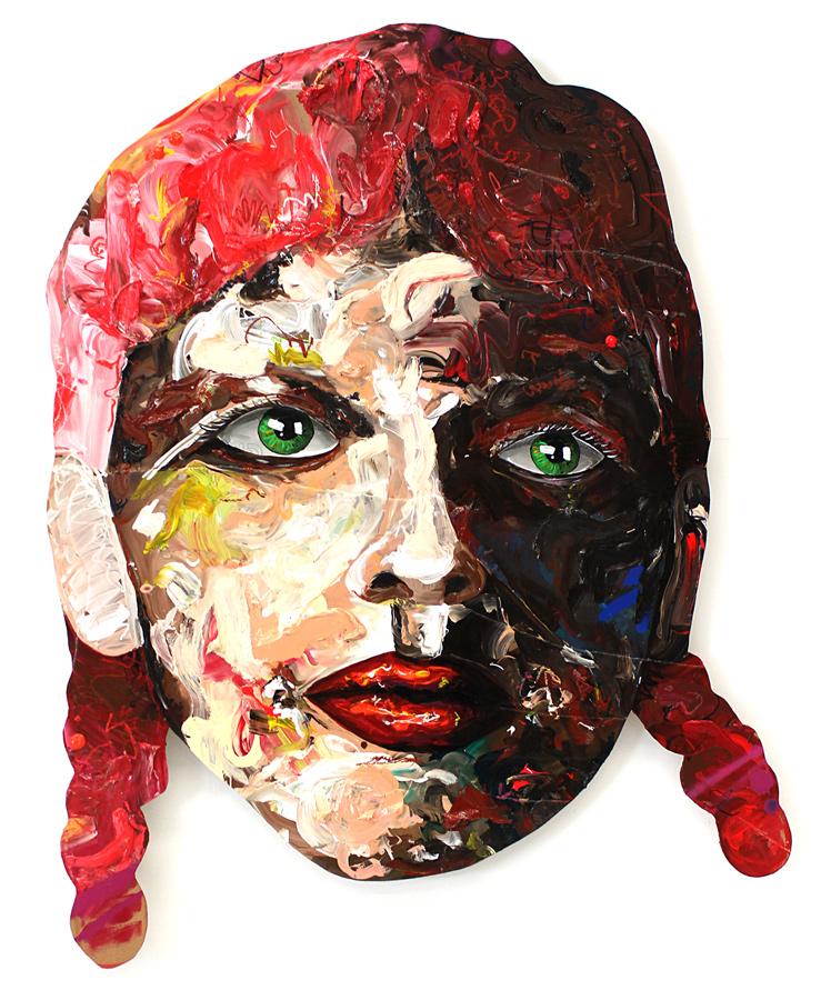 """""""red hair girl"""" // Acryl auf Holz // 88 x 124"""