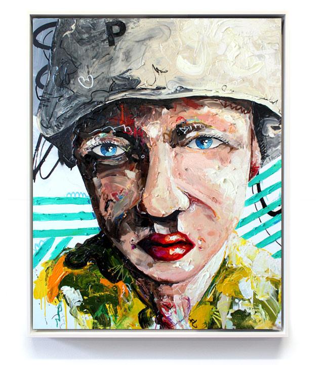 """Girl X"" // Acryl, Ölpastel auf Leinwand // 100 x 80"